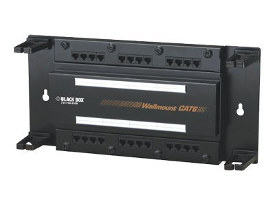 Black Box Wallmount 12-Port Cat 6 Patch