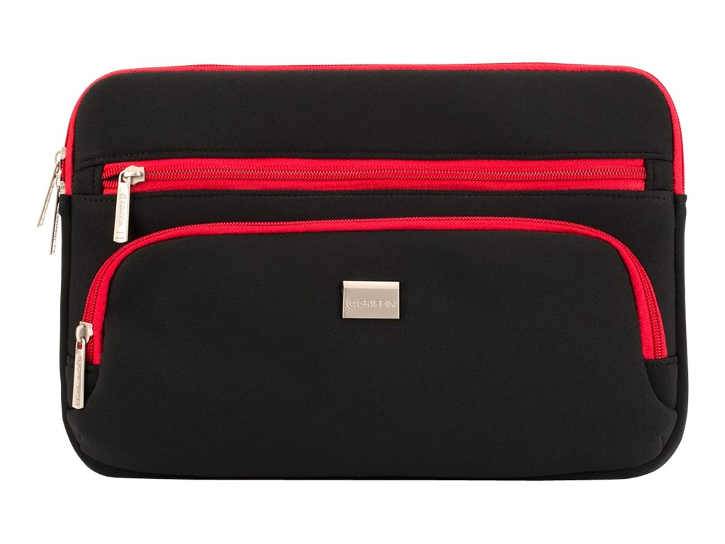 Griffin Chromebook Carry Case, Up to 11.6 Diagonal, Black Red
