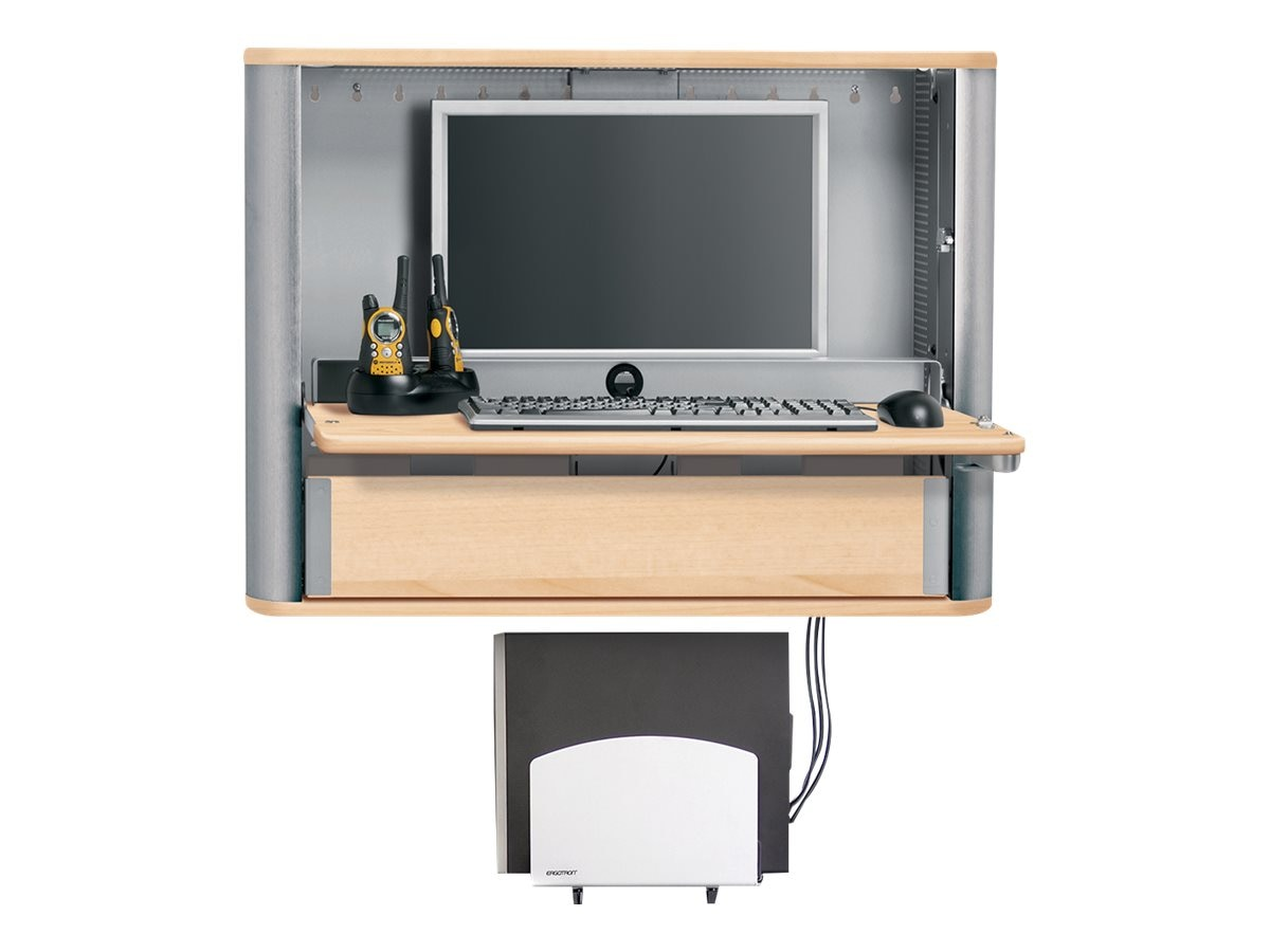 Ergotron eNook Pro Large Wall Workstation, Maple, EPM3616SM/MP