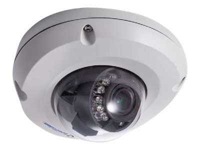 Geovision 2MP H.264 WDR IR Mini Fixed Rugged IP Dome Camera with 3.8mm Lens, 84-EDR2100-2010