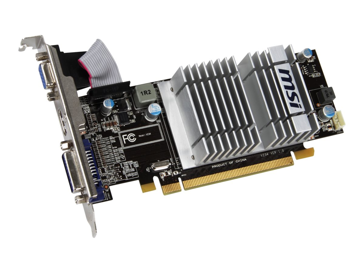 Microstar Radeon HD 5450 PCIe 2.1 x16 Low Profile Graphics Card, 1GB DDR3, R5450-MD1GD3H/LP