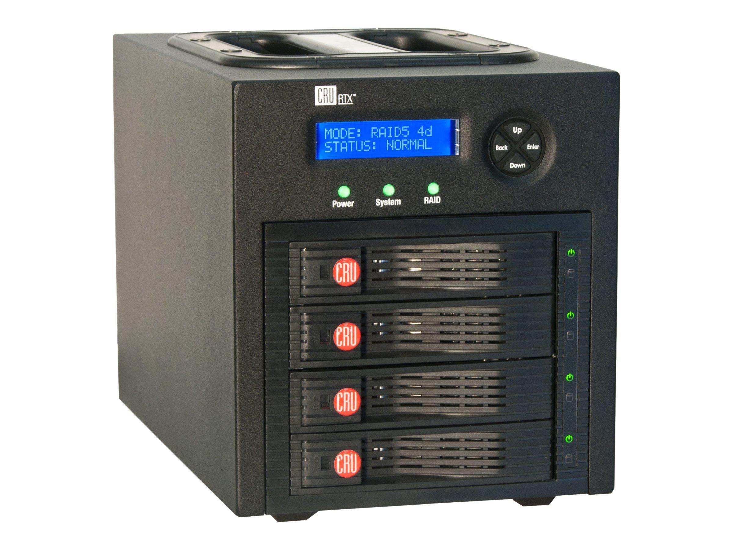 wiebeTECH RTX430-3QR 4 BAY RAID 4X2TB    PERPHFS+ USB3 ESATA FW800 ROHS