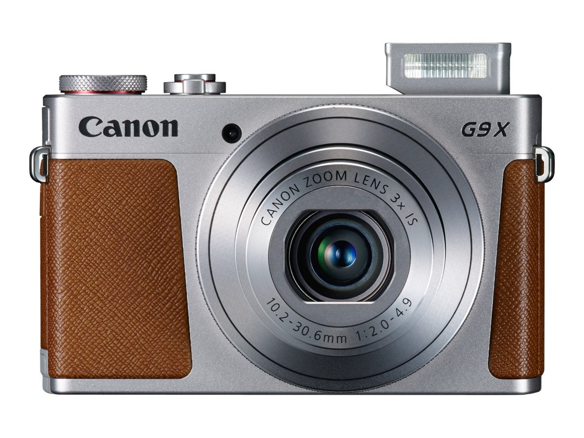 Canon PowerShot G9 X Digital Camera, Silver, 0924C001, 31815561, Cameras - Digital - Point & Shoot