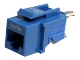 StarTech.com Tool-less Type Category 5 Keystone Jack Blue, KEYSTONE2BL, 6057631, Premise Wiring Equipment