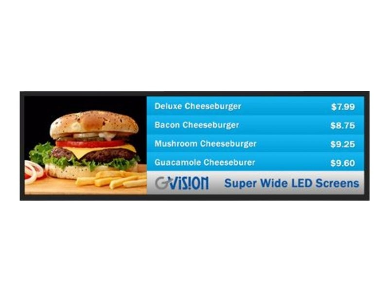 GVision 38 S38AE-OB-400G LCD Super Widescreen Display, Black, S38AE-OB-400G, 17543474, Monitors - Large-Format LCD