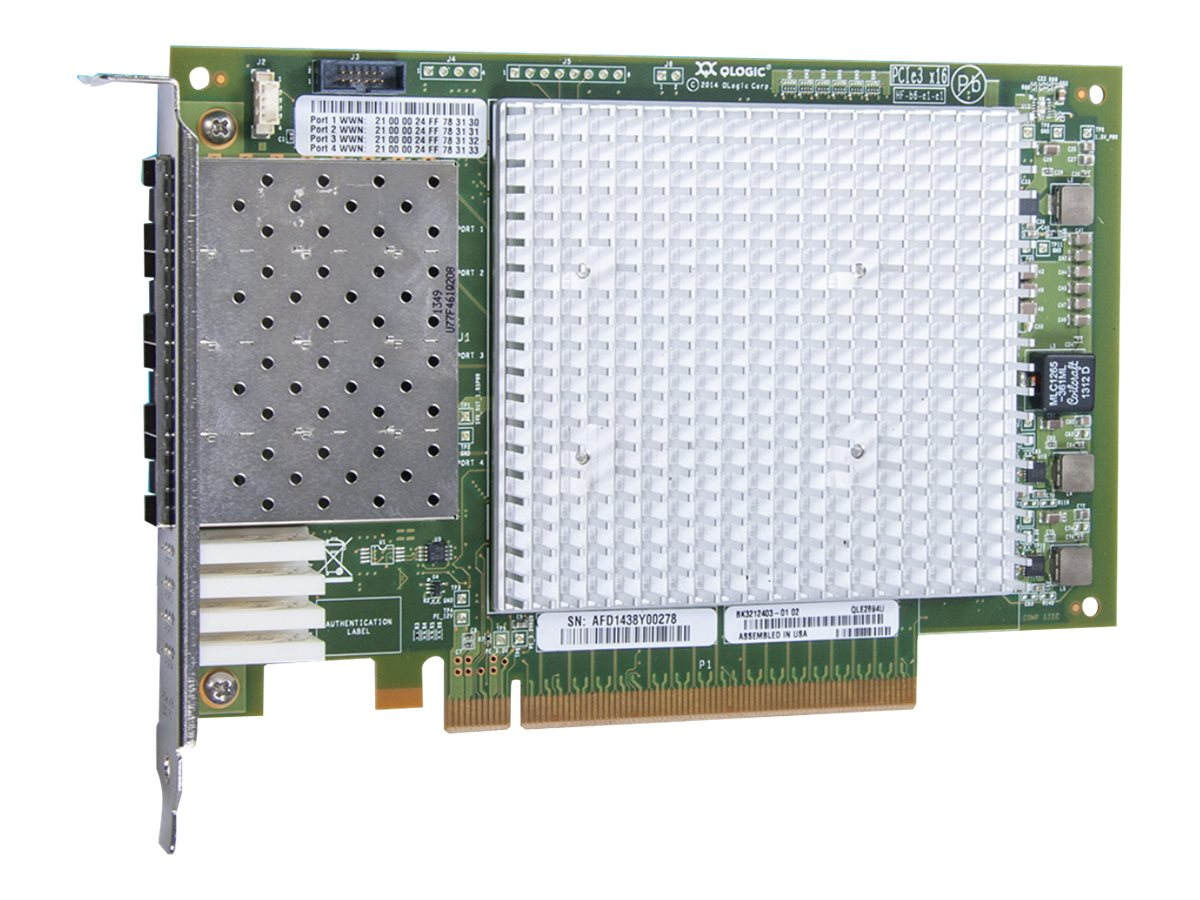 Qlogic 16GB Quad-Port PCIe FC HBA, QLE2694U-SR-CK, 30988654, Host Bus Adapters (HBAs)