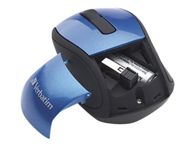 Verbatim Wireless Mini Travel Mouse, Blue, 97471