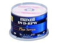 Maxell Matte White Inkjet DVD-R Media (50-pack Spindle), 635061, 12583151, DVD Media
