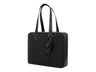Mobile Edge Monaco Handbag, Nylon, Black White, MEWHBM6, 7100004, Carrying Cases - Other