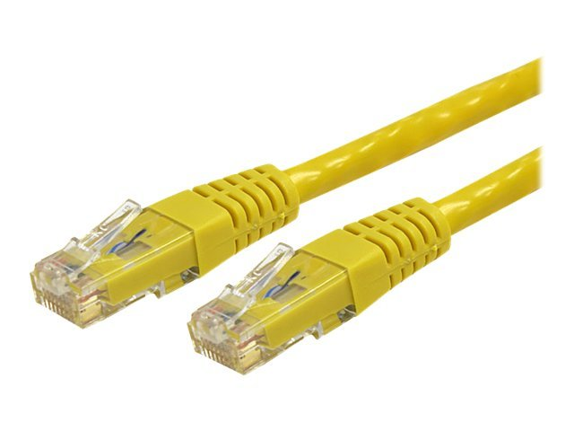 StarTech.com Cat6 UTP 500MHz Gigabit Ethernet Patch Cable, Yellow, Molded, 4ft, C6PATCH4YL