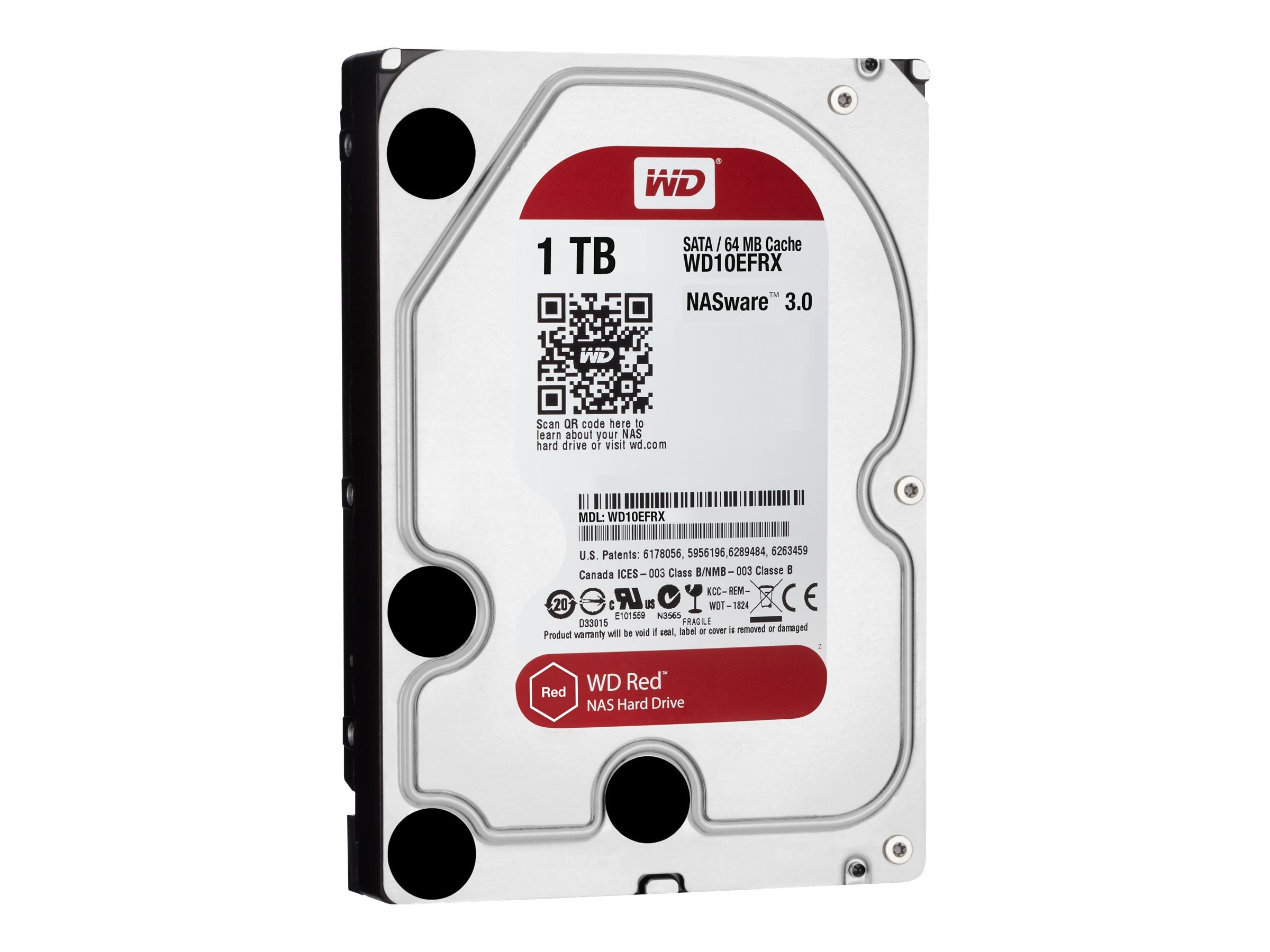 WD 1TB WD Red SATA 6Gb s 3.5 Internal NAS Hard Drive, WD10EFRX
