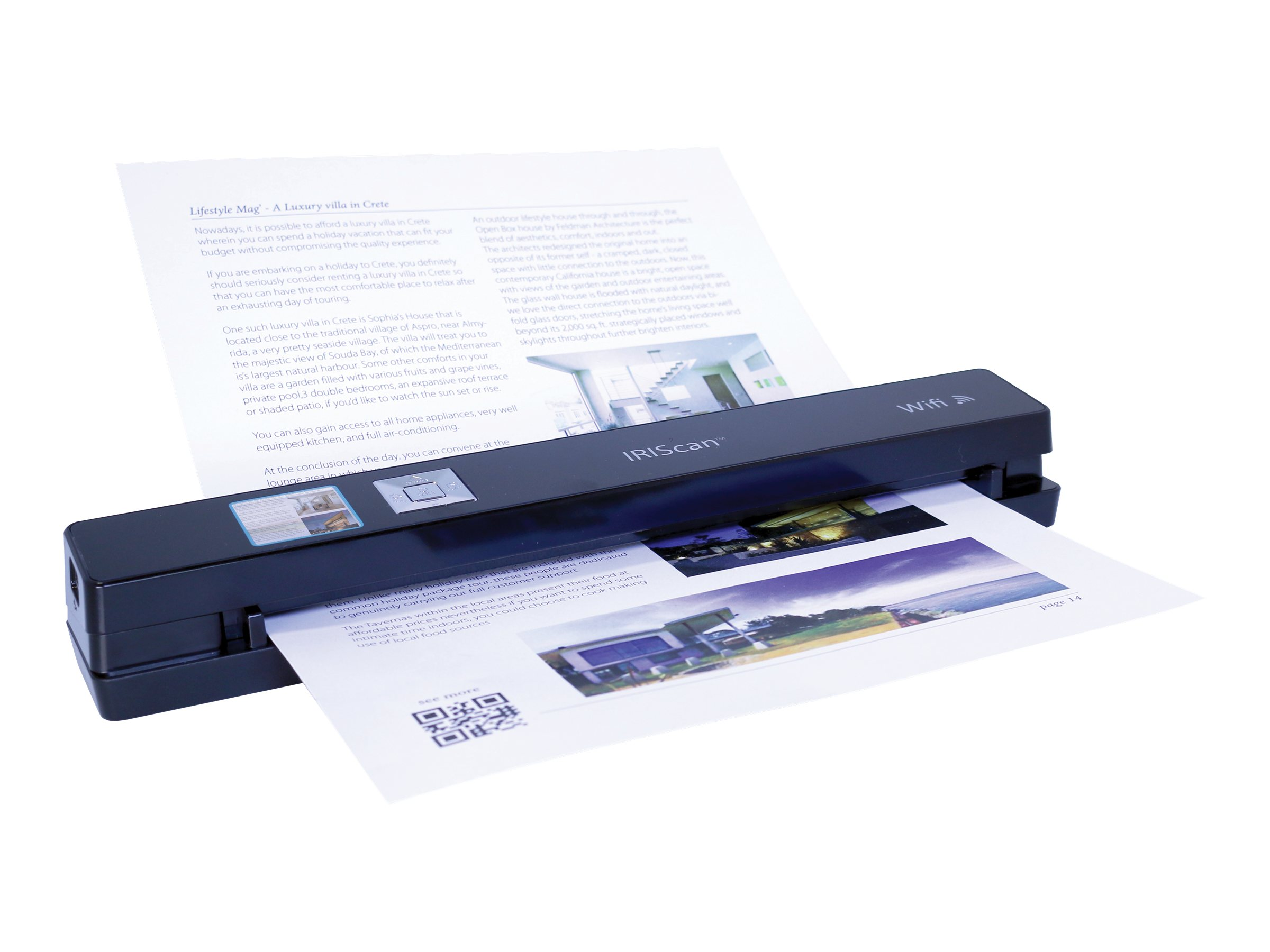 IRIS Iriscan Anywhere 3 WiFi Mobile Sheet-fed Scanner, 458129