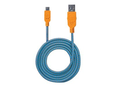 Manhattan USB Type A to Micro B Cable, Blue Orange, 3ft