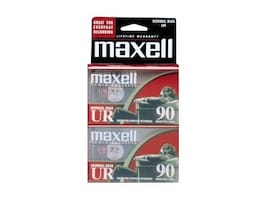 Maxell UR-90 Blank Audio Cassette Tape, 2-Pack, 108527, 15052145, Audio Tape Media