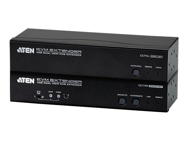 Aten VGA Dual View KVM Extender, CE774, 15324121, KVM Displays & Accessories