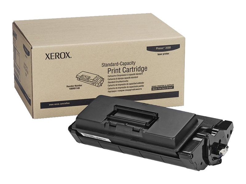 Xerox Black Toner Cartridge for the Phaser 3500 Series Printers, 106R01148