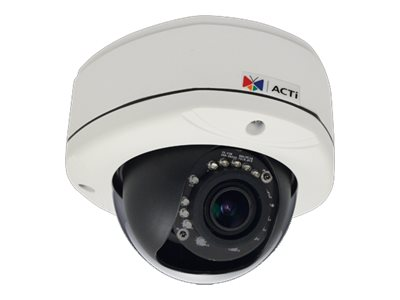 Acti 3MP Outdoor Dome with D N, Adaptive IR, Basic WDR, Vari-focal Lens
