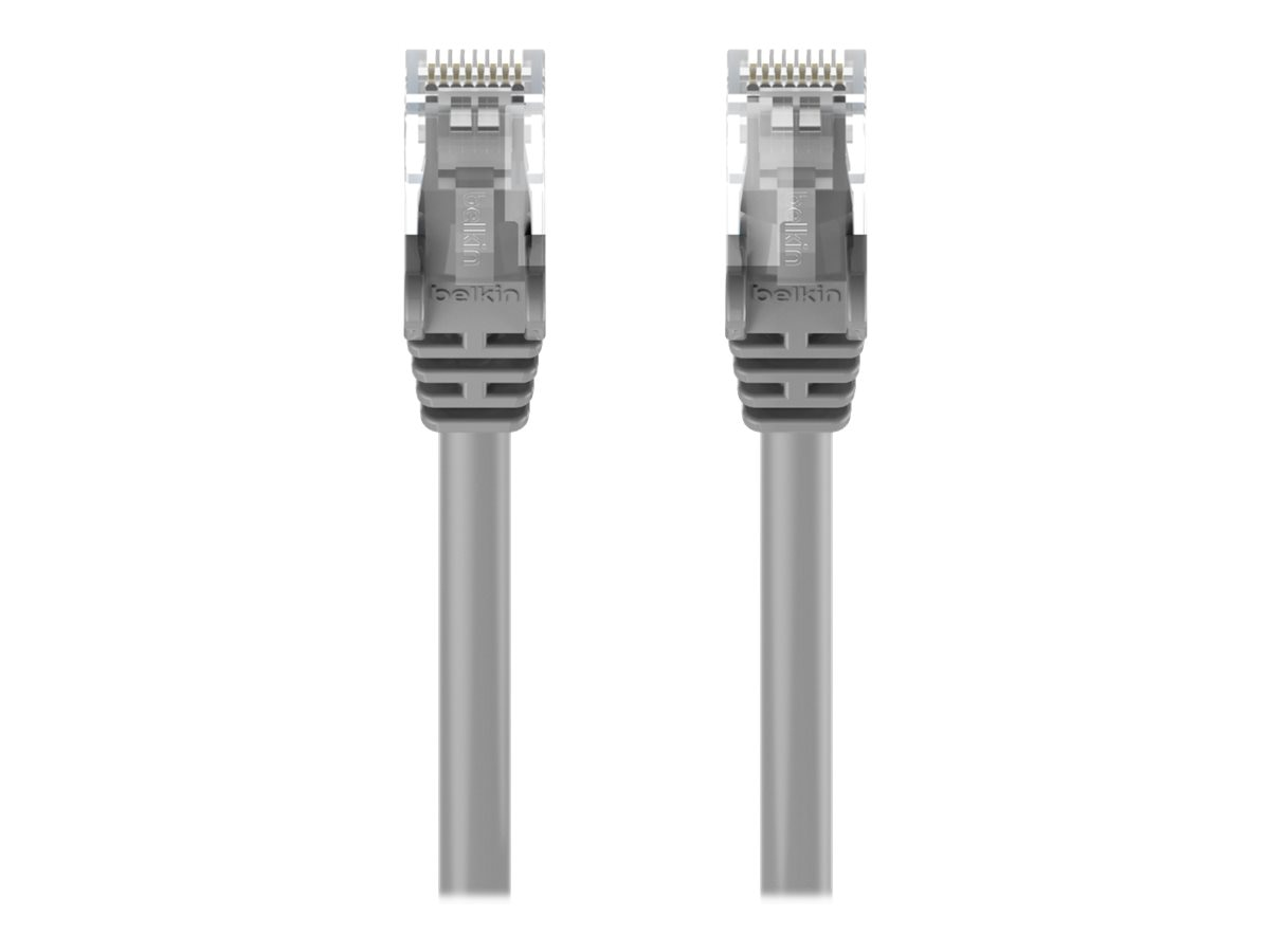 Belkin Cat6 UTP Patch Cable, Gray, Snagless, 15ft, A3L980-15-S