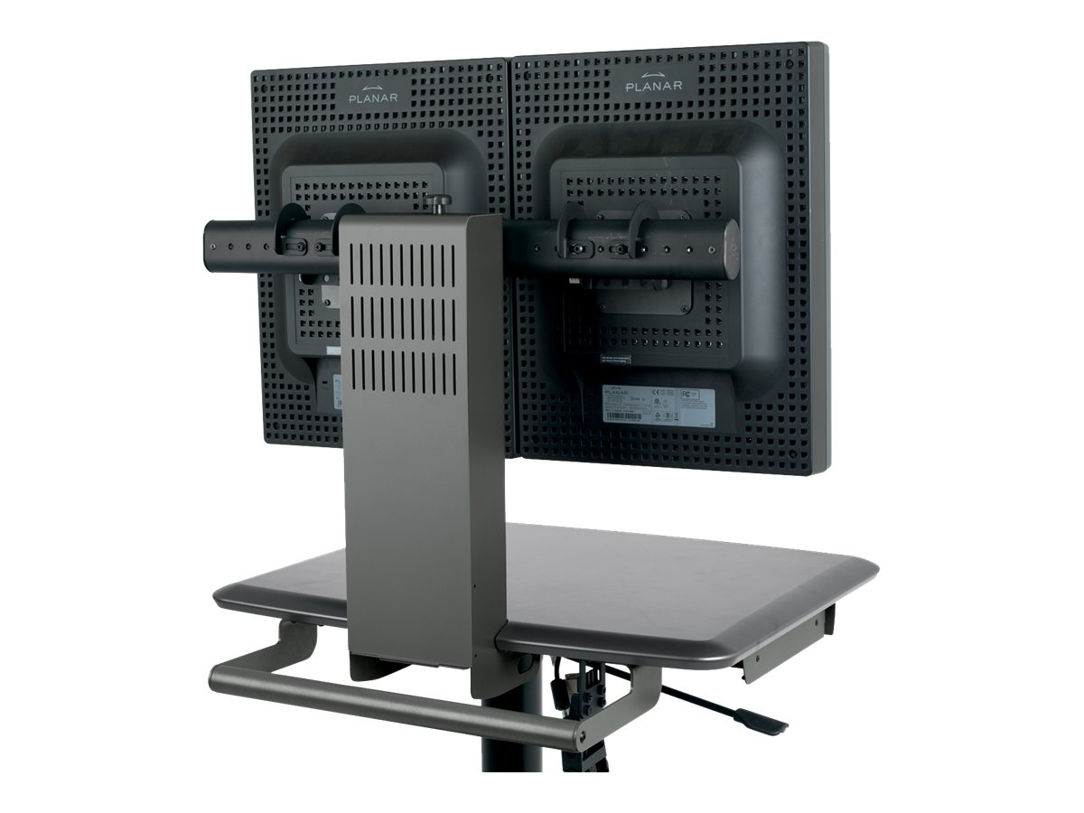 Ergotron Dual Monitor Mount Cart, Gray