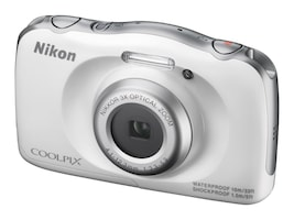 Nikon COOLPIX S33 Digital Camera, White, 26495, 32555326, Cameras - Digital