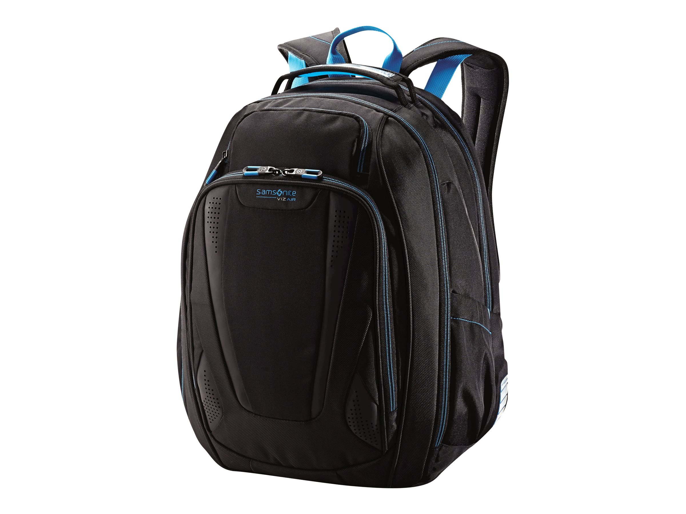Stephen Gould Viz Air Backpack 15.6, Black w  Electric Blue Trim