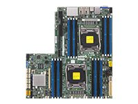 Supermicro Motherboard, X10DRW-iT WIO C612 (2x)E5-2600 v3 Family Max.1TB DDR4 10xSATA 2x10Gb