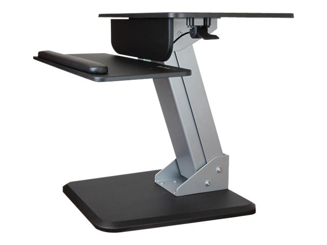 StarTech.com Sit-to-stand Workstation with Articulating Monitor Arm, Black, BNDSTSSLIM