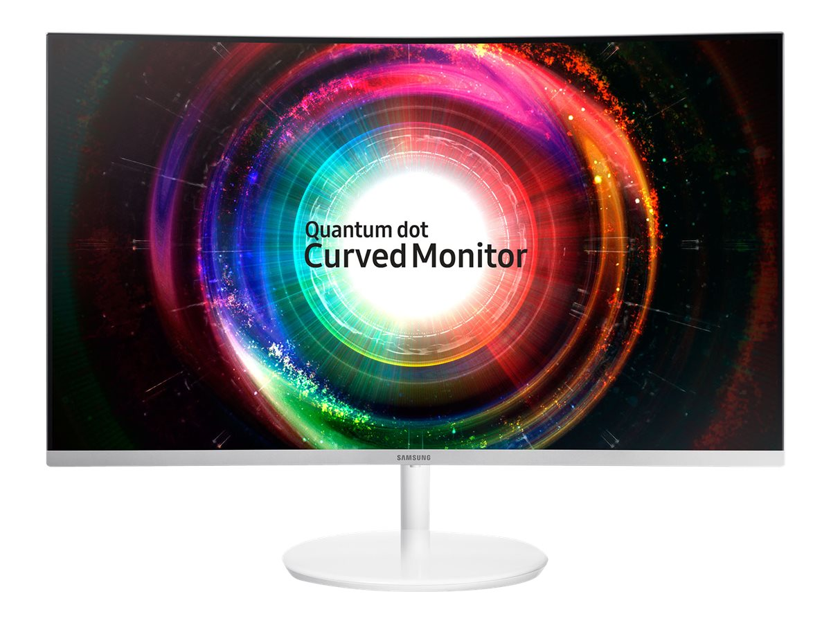 Samsung 31.5 CH711 WQHD LED Curved Monitor, Silver White