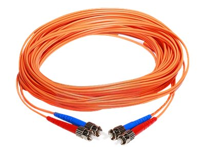 Axiom LC-LC 50 125 OM2 Multimode Duplex Fiber Optic Cable, 25m, AXG93011, 23730399, Cables