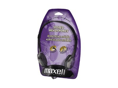 Maxell Lightweight Stereo Headphones, 190318