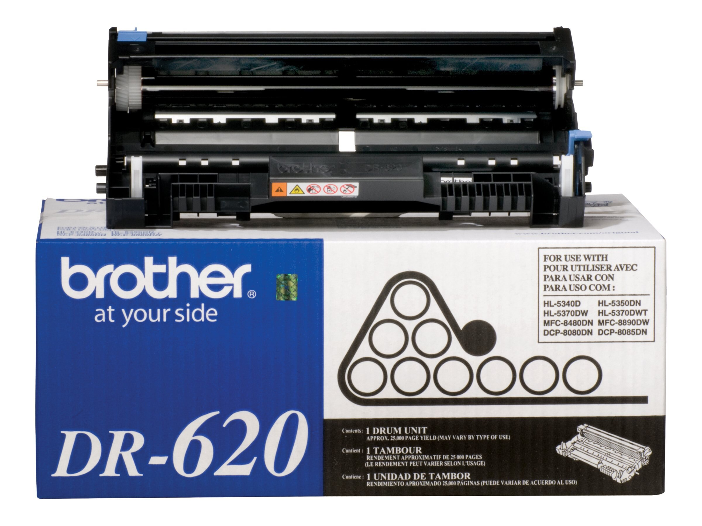 Brother DR620 Drum Unit for DCP-8080DN, DCP-8085DN, HL-5340D, HL-5370DW, HL-5370DWT, MFC-8480DN & MFC-8890DW, DR620, 9532089, Toner and Imaging Components