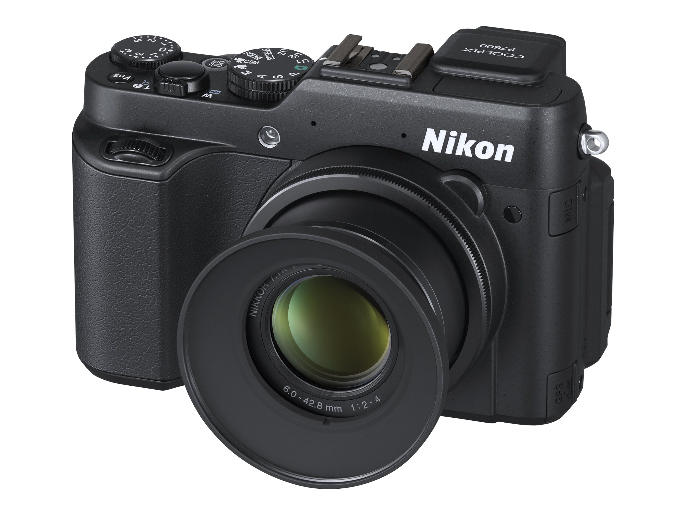 Nikon Coolpix P7800 Black 12.2MP 3 LCD, 26427, 16223495, Cameras - Digital - Point & Shoot