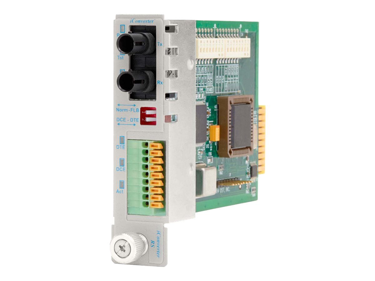 Omnitron iConverter RS422 485 DB9 to ST MM 1310nm 5KM Module, 8780-0, 10364123, Network Transceivers