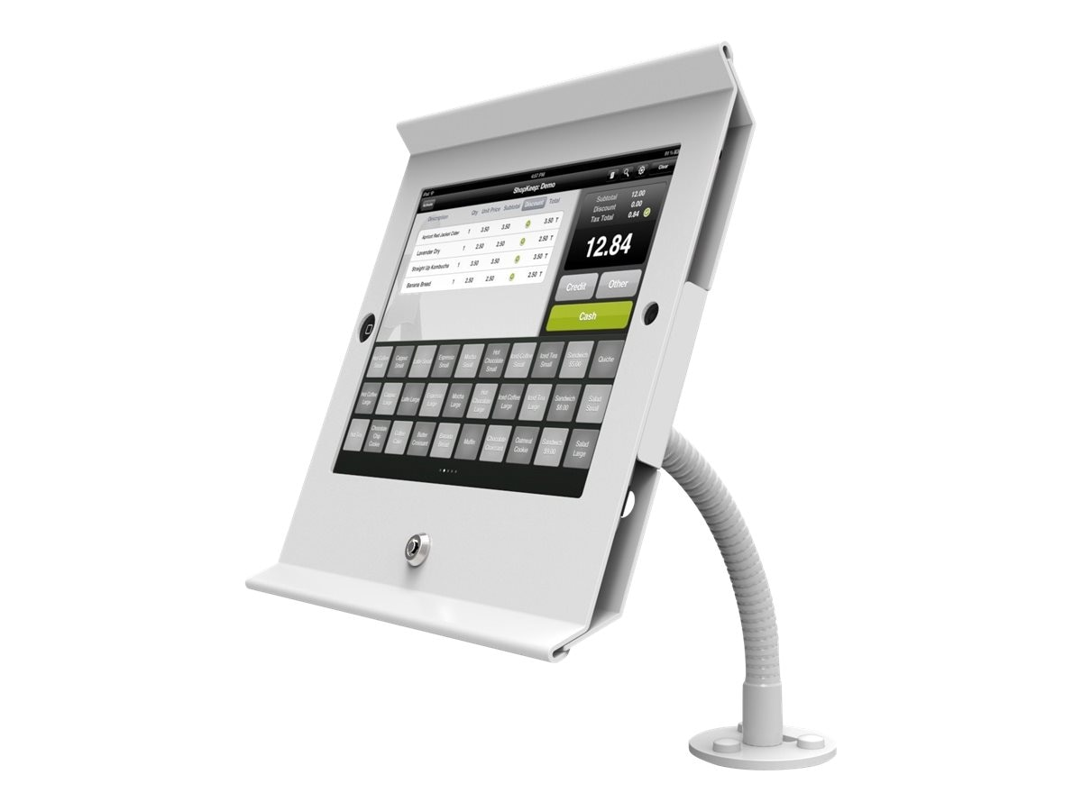 Compulocks Slide Flex Pos Flex Arm for iPad Air, White
