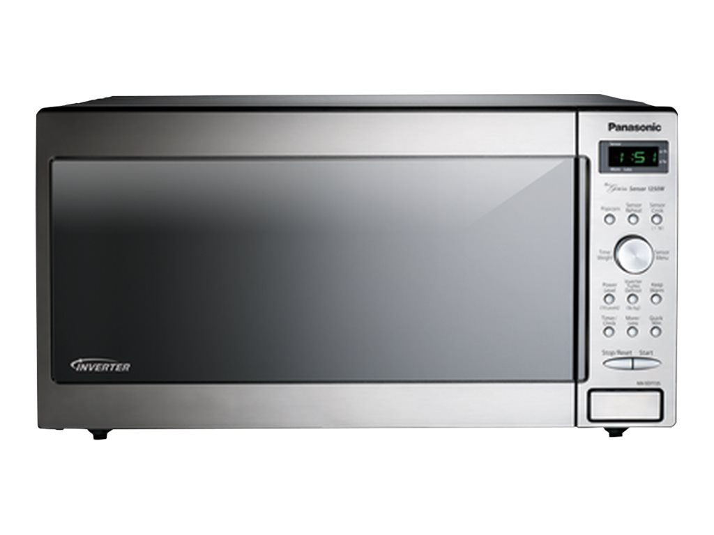 Panasonic 1250W 1.6 Cubic Feet Countertop Microwave, Stainless Steel Silver