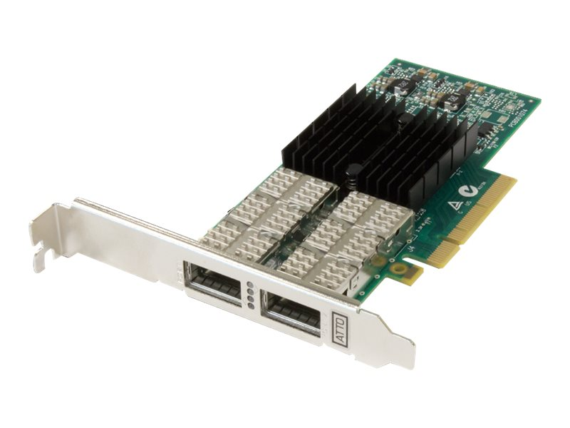 Atto FastFrame 2-Port 40GbE PCIe 3.0 x8 DAC LP NIC