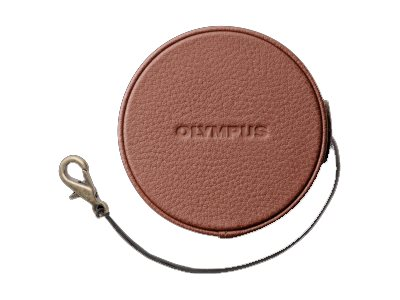 Olympus LC-60.5GL Genuine Leather Lens Cover for 14-42mm f 3.5-5.6 EZ, Brown, V603001NW000, 17764998, Camera & Camcorder Accessories