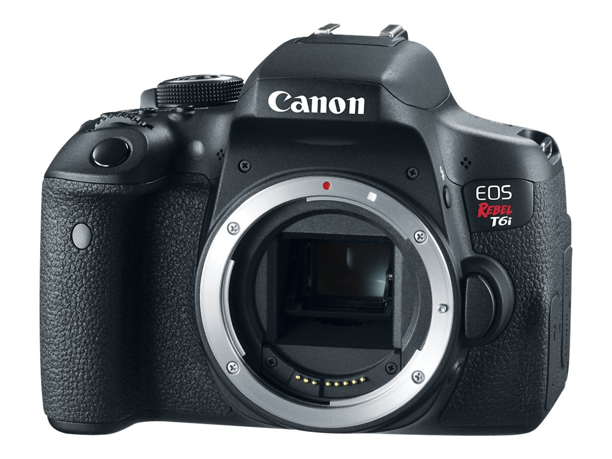 Canon EOS Rebel T6i DSLR Camera, Black (Body Only), 0591C001, 18924800, Cameras - Digital - SLR