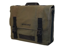 Mobile Edge Eco-Friendly Canvas Messenger, Olive, MECME9, 9838117, Carrying Cases - Notebook