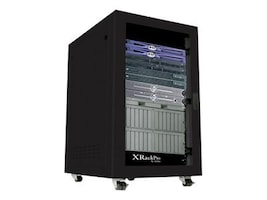 Gizmac XRackPro2 25U Noise Reduction Server Rack Enclosure, Black, XR-NRE2-25U-US-BLK, 7678711, Racks & Cabinets