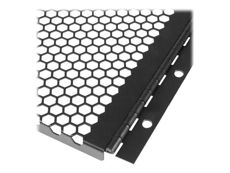 StarTech.com Vented Blank Panel w  Hinge for Server Racks, 6U, RKPNLHV6U
