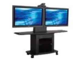 Avteq 32 Dual Single Display Mobile Cart with Set-Top Camera Mount, GMP-200L-TT1, 14620892, Computer Carts