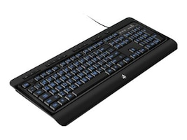 Aluratek Large Print USB Keyboard Tri-Color USB with Backlit LED, AKBLED01F, 16895662, Keyboards & Keypads