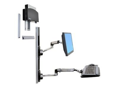 Ergotron LX Wall Mount System for LCD, CPU and Keyboard, 45-253-026