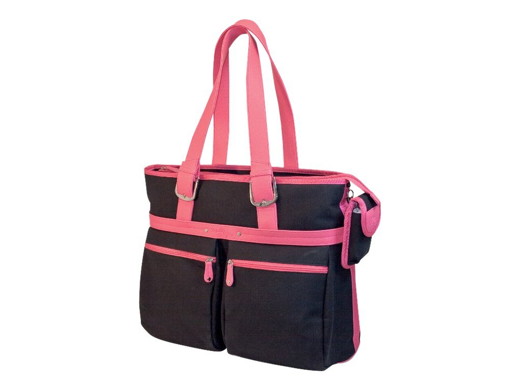 Mobile Edge Komen ECO Tote, Black with Pink Trim, for 16-17 Screen, MECTEK1, 10196406, Carrying Cases - Notebook