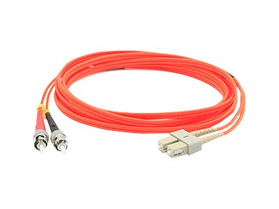 ACP-EP Fibre MMF LC ST 62.5 OM1 Duplex Patch Cable, Orange, 5m, ADD-ST-LC-5M6MMF, 17747012, Cables