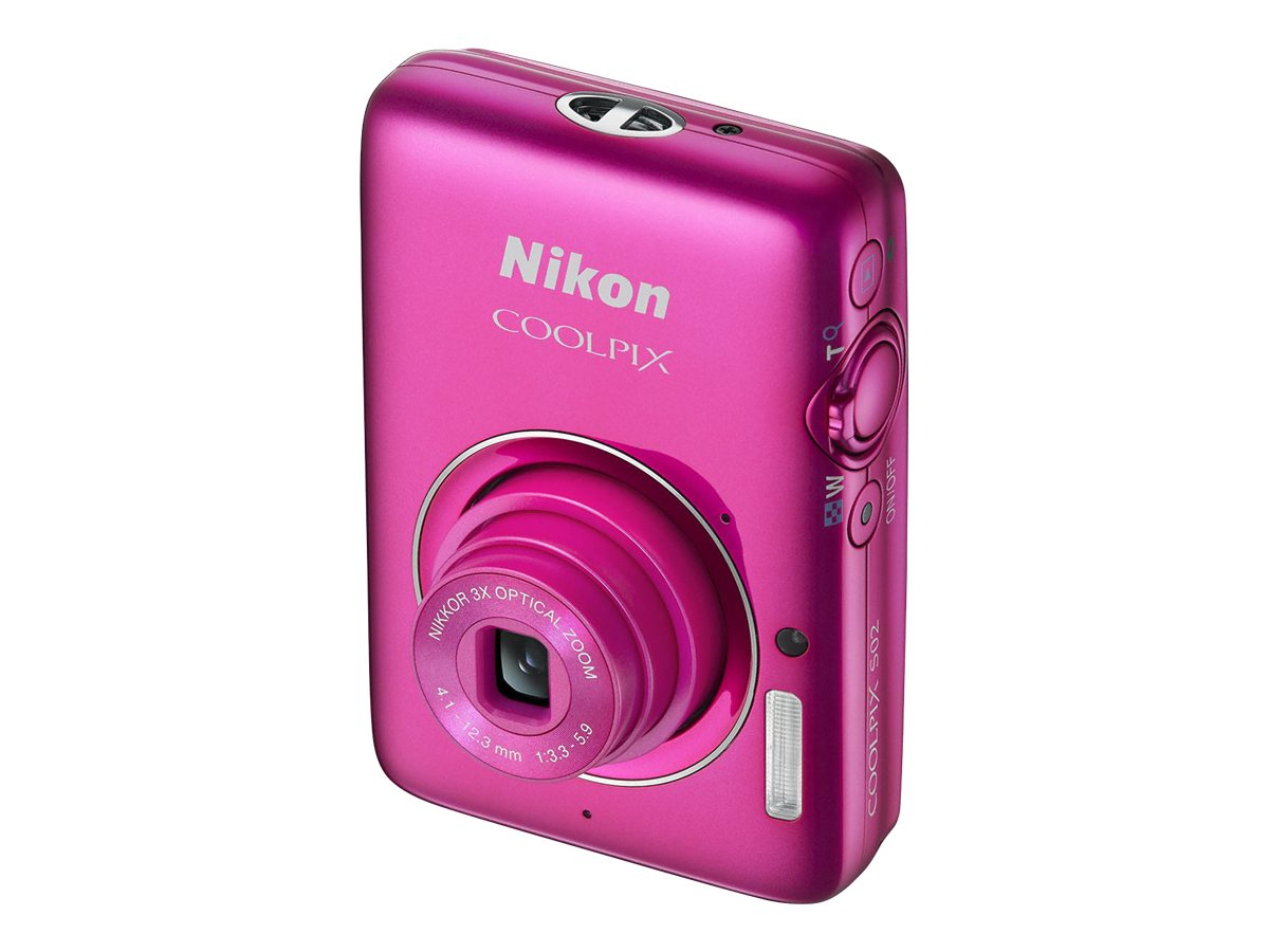 Nikon CoolPix S02, Pink, 26433, 16223559, Cameras - Digital - Point & Shoot