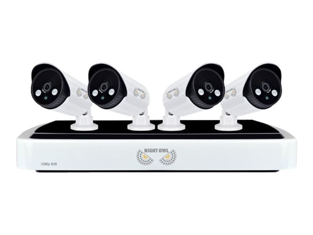 Night Owl Full 1080p Network Video Recorder with 1TB HDD and 4x Night Vision 1080p HD IP Cameras