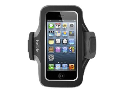 Belkin Slim-Fit Plus Armband for iPhone 5 5s 5c & iPhone SE, Blacktop Gravel
