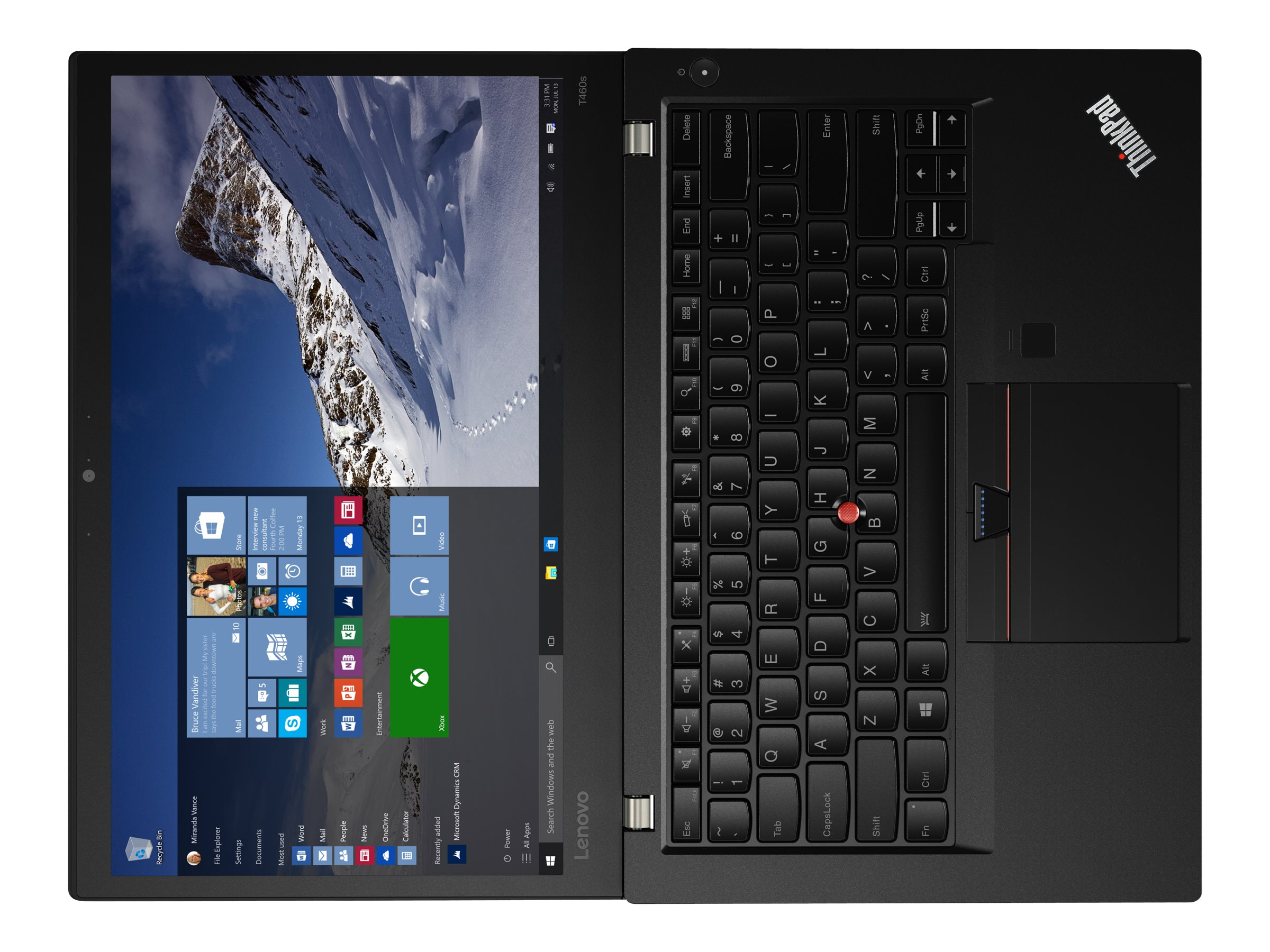 Lenovo TopSeller ThinkPad T460s 2.6GHz Core i7 14in display, 20F9003CUS